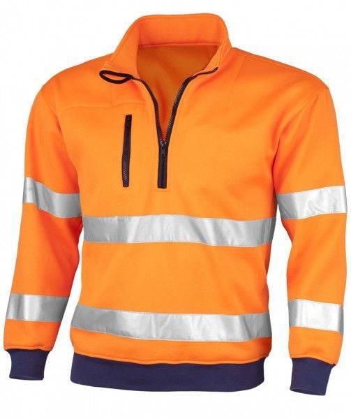 Warnschutz-Sweatshirt SIGNAL, 300g/m², Mischgewebe 75% Polyester und 25% Baumwolle