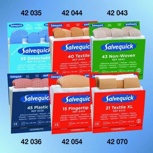 Salvequick® Nachfülleinsätze, 40 x elastisch