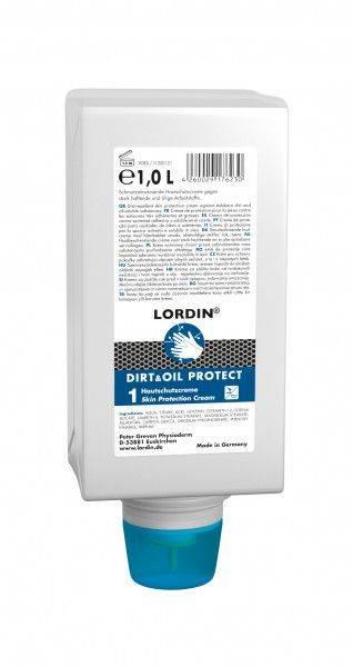 Hautschutzcreme LORDIN® DIRT&OIL PROTECT, 1-L-Varioflasche