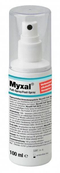 Fußspray MYXAL® alkoholfrei, 100-ml-Sprühflasche