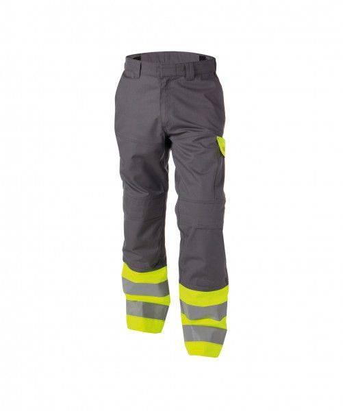Zweifarbige Multinorm Warnschutz Bundhose mit Kniepolstertaschen LENOX, 290 g/m², MINUS