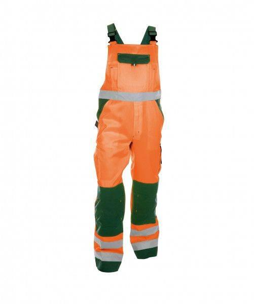 Warnschutz Latzhose mit Kniepolstertaschen TOULOUSE, 290 g/m², MINUS