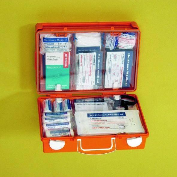 Erste-Hilfe-Koffer SAN, orange, leer
