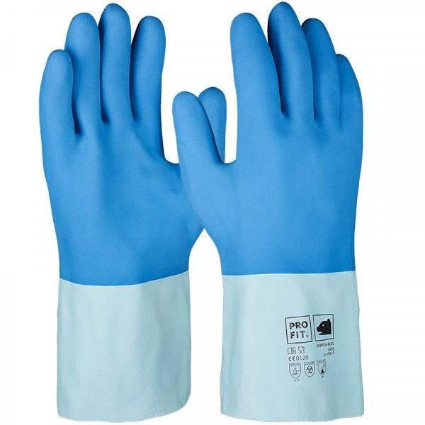 Latex-Chemikalienschutzhandschuh SUPER BLUE