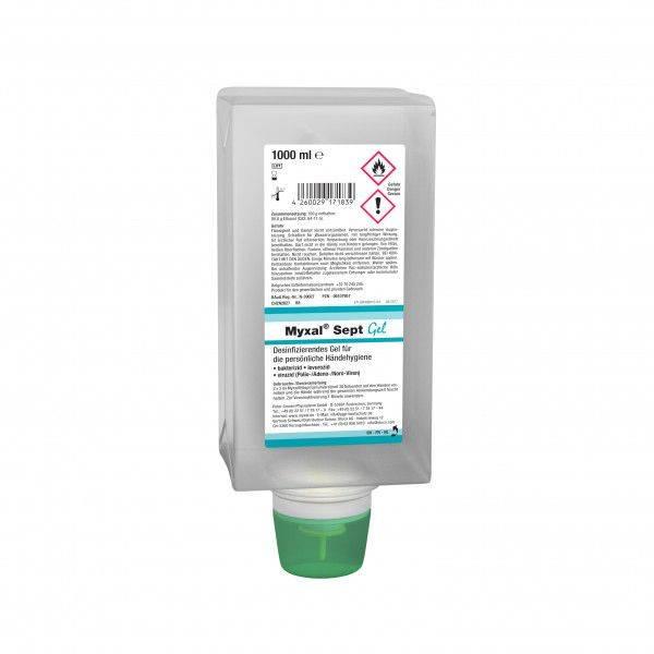 Desinfektionsgel MYXAL® SEPT GEL, 1-L-Varioflasche