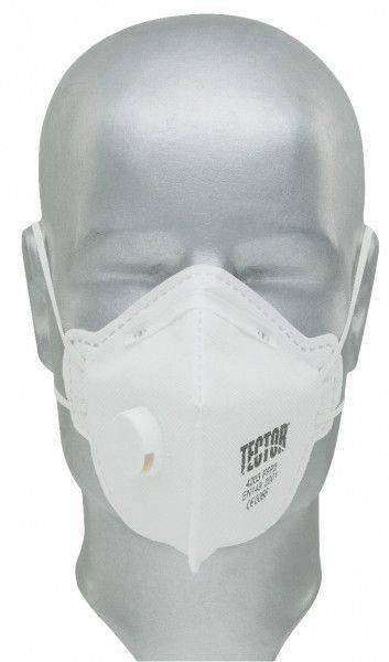 Feinstaub-Faltmaske TECTOR® P2, mit Ausatmungsventil