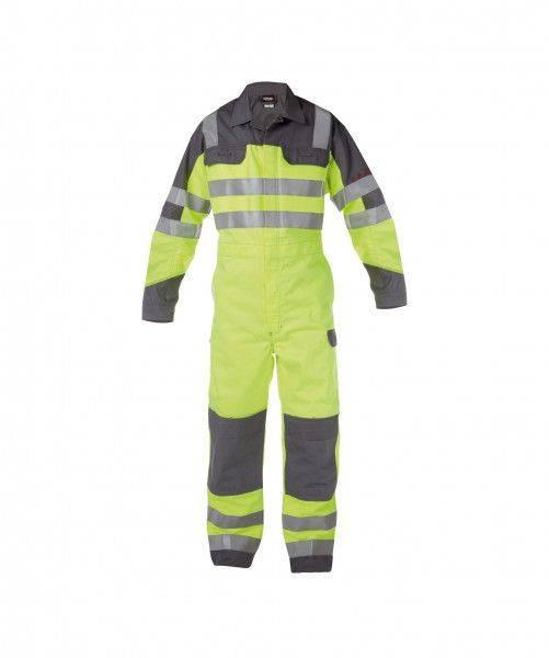 Zweifarbiger Multinorm Warnschutz Overall mit Kniepolstertaschen SPENCER, 330 g/m², STANDARD