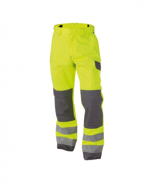 Zweifarbige Multinorm Warnschutz Bundhose mit Kniepolstertaschen MANCHESTER, 330 g/m², PLUS