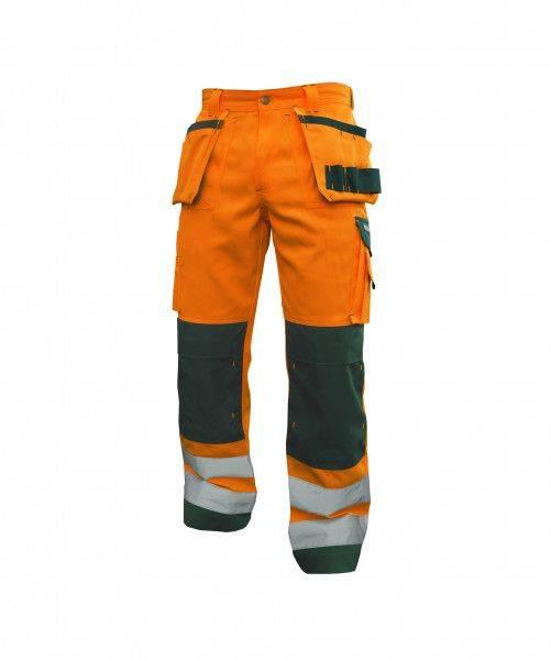 Warnschutz Multitaschen-Bundhose mit Kniepolstertaschen GLASGOW, 290 g/m², MINUS